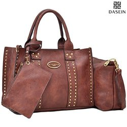 Dasein DS Collection Sophie Tote with Crossbody and Phone Wristlet handbag Set 0620  coffee 1543158