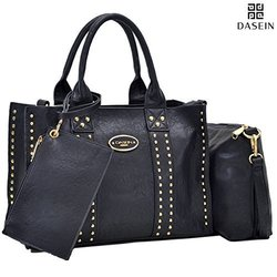 Dasein DS Collection Sophie Tote with Crossbody and Phone Wristlet handbag Set 0620  black 1546226