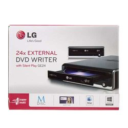 LG USB 2.0 External Super Multi DVD Rewriter Model (GE24NU40)