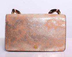 dfc5998338c ... Tory Burch Sadie Metallic Suede Shoulder Bag - Brown - Size One Size ...
