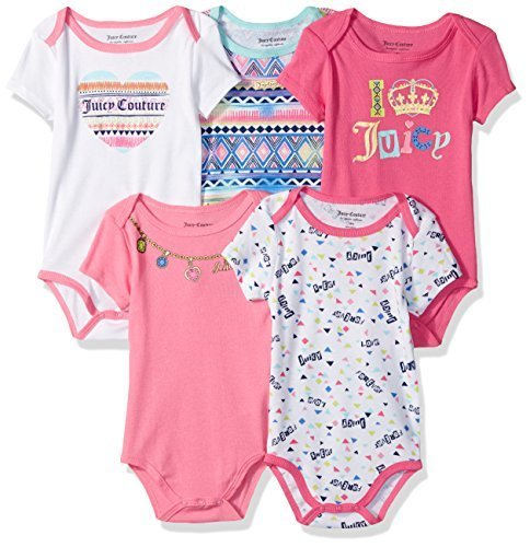 3da23e357 Juicy Couture Baby Girls' Bodysuit - Pack of 5 - Multi - Size: 0-3M - Check  Back Soon - BLINQ