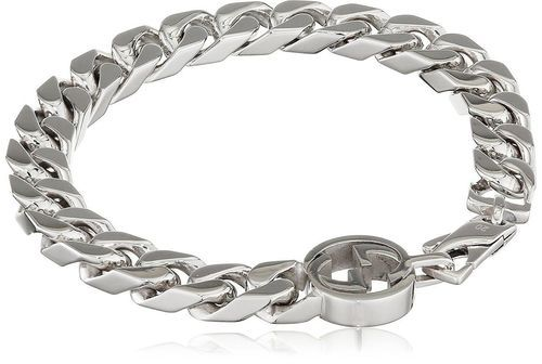 ced06e03b Gucci Interlocking G Motif Rhodium Plated 925 Silver Bracelet ...