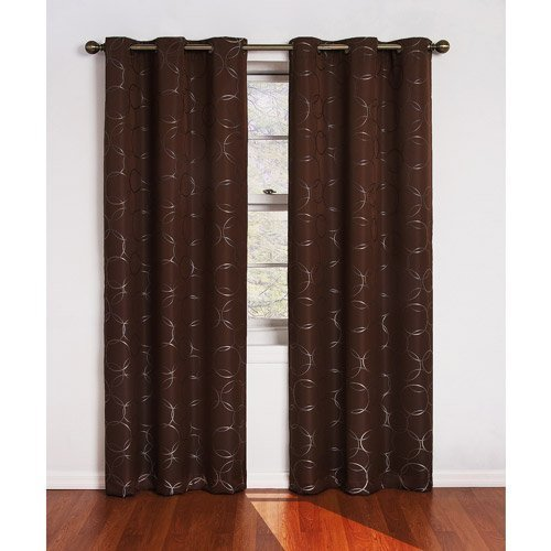 Eclipse zodiac energy efficient curtain panel chocolate for Energy efficient brands