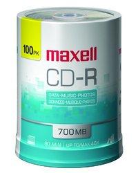 Maxell 648200 700MB 80 min CD-R 100 Pack