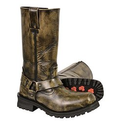 Men's Distressed Brown Classic Harness Square Toe Boot-8.5 1566809