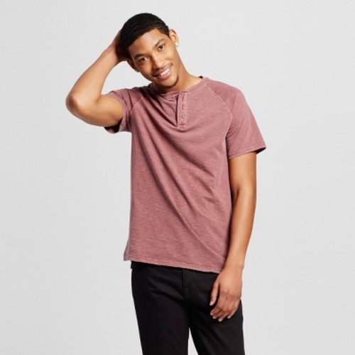 a306d063 Men's Short Sleeve Henley T-Shirt - Mossimo Supply Co. Red S - Check Back  Soon - BLINQ