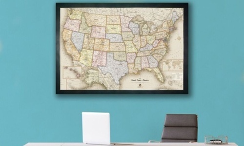 World Map With Magnetic Pins.Usa And World Magnetic Pin Travel Map With 30 Pins Set Of 2