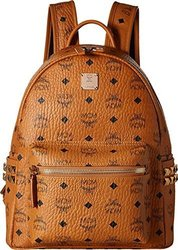 MCM Stark Side Stud Backpack - Cognac - Size: Small 1580546