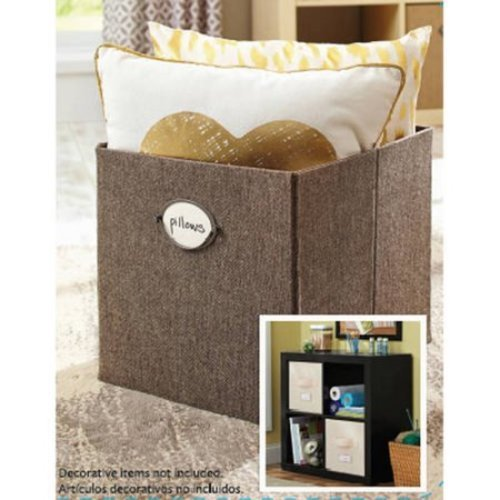 Better Homes Gardens Collapsible Fabric Storage Cube Linen Brown