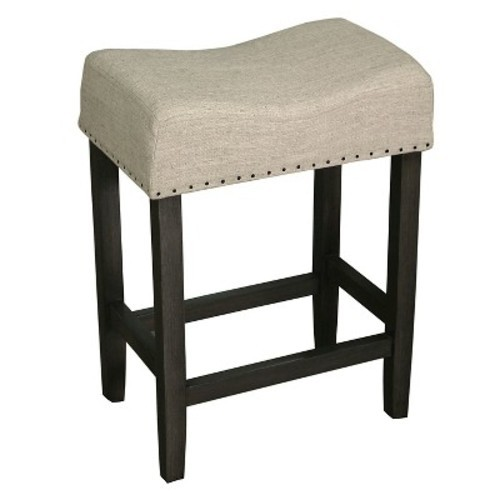 Rumford Saddle 24 Quot Counter Stool Natural Linen