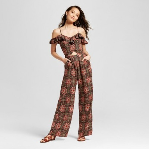 04e60dad9 Women's Cold Shoulder Jumpsuit - Xhilaration (Juniors') Rust M ...