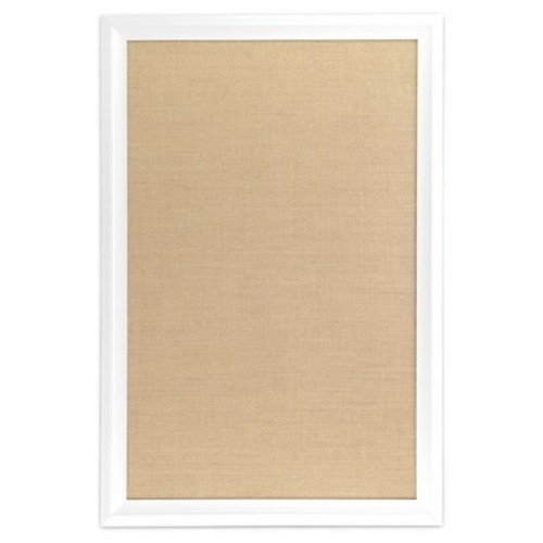 Ubrands White Wood Frame Burlap Bulletin Board 20 X 30 Check