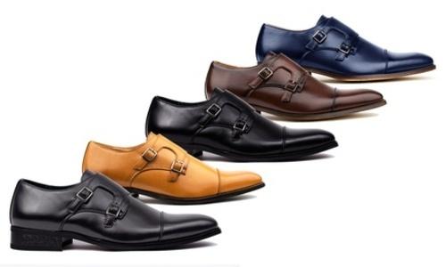 b50ec82de7 Signature Men's Double Monk Strap Dress Shoes - Light Brown - Size:11 ...