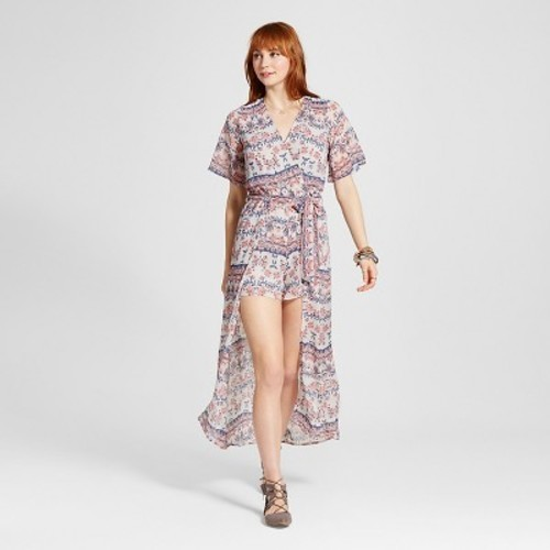 c3bac641506 Women s Printed Plunging V-Neck Maxi Romper M - Love   First Sight (Juniors )  - Check Back Soon - BLINQ