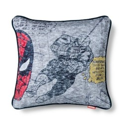 "Marvel Spider-Man Throw Pillow - Gray/Red - Size:15""""x15"""""" 1614642"