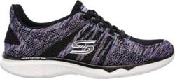 Skechers Women's Studio TR Edgy Sneakers - Black/Purple - Size: 8.5 1603899