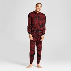 Men's Spider-Man  2pc Hoodie Pajama Set - Burgundy Heather S 1622974
