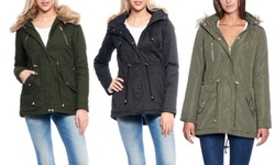Women s Regular and Plus Size Parka Jacket XL JK2983X-Black Down   Parkas