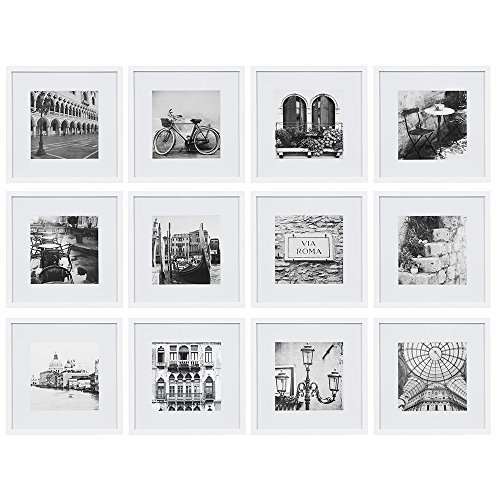 12-inch x 12-inch Matted to 8-inch x 8-inch Frame Kit (Set of 12 ...
