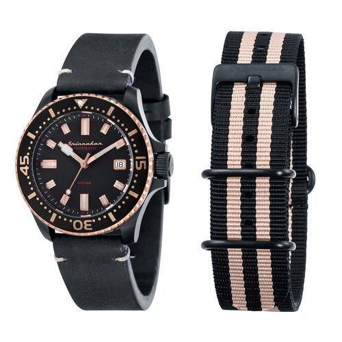 8c714c6b934 ... Spinnaker Men s 42mm Spence Automatic Watch - Black Beige (SP-5039-03  ...