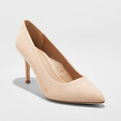 A New Day Women's Gemma Pointed Toe Nude Pumps - Honey Beige - Size: 8 1638787