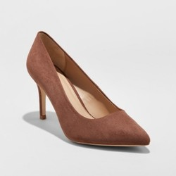 A New Day Women's Gemma Pointed Toe Nude Pumps - Coffee Bean - Size: 9W 1638802