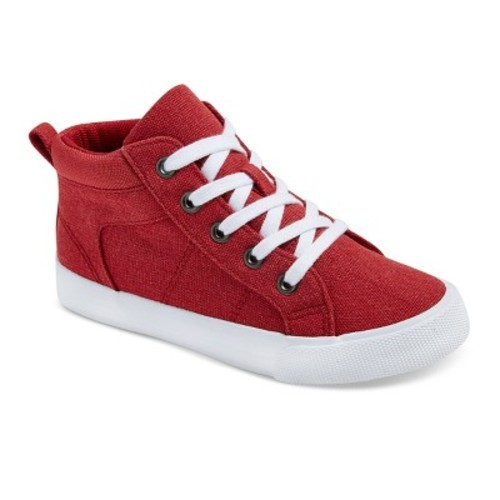 0e9e902f03 Cat & Jack Boys' Gladden Canvas High Top Sneakers - Red - Size: 6 - Check  Back Soon - BLINQ