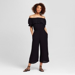 196498501 Women's Mixed Print Off the Shoulder Jumpsuit - Xhilaration (Juniors ...