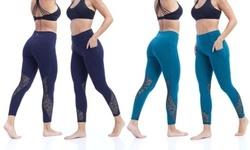 Marika Arabella High Waist Pocket Leggings - Black - Size:XL 1646171