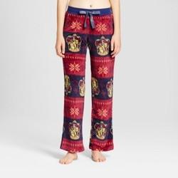 Women's Harry Potter Plush Pajama Pants - Navy/Burgundy M 1654287