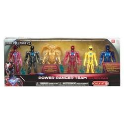 Bandai Collectible 6-Pc Power Rangers Team Set With Metallic Goldar 1657359