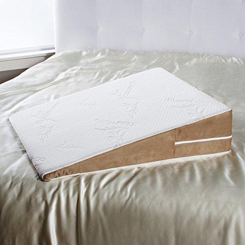 Avana Bed Wedge Acid Reflux Memory Foam Pillow Beige