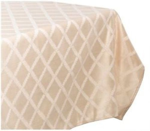 d71e856b14c Lenox Laurel Leaf Lattice Cotton Blend Tablecloth - Ivory - Size 70 ...