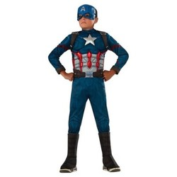 Boys' Marvel  Captain America Deluxe Muscle Costume - S (4-6) 1666904