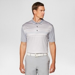 Jack Nicklaus Men's Heather Stripe Golf Polo - Sleet L 1667382
