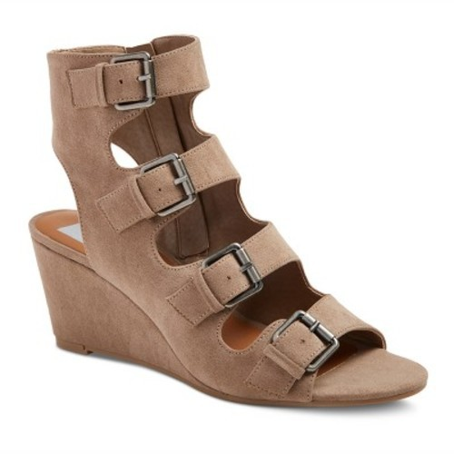 c1737c2bde0b ... dv Women s Leeann Buckle Wedge Gladiator Sandals - Light Taupe - Size   ...