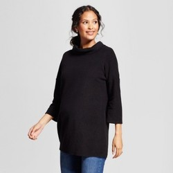 Maternity 3/4 Sleeve Cozy Fleece Pullover - Isabel Maternity by Ingrid & Isabel  Black M 1672995
