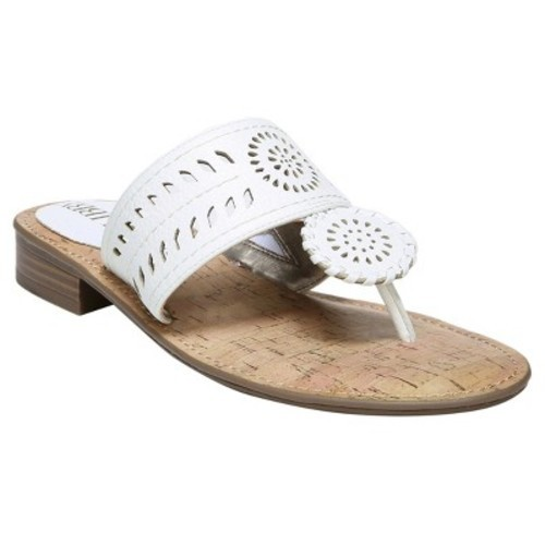 e81bb978587 Women s Sam   Libby Tibby Whip Stitch Thong Sandals - White 7.5 - Check  Back Soon - BLINQ