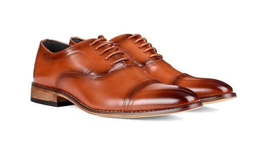 Signature Men s Lace-up Cap Toe Design Oxford Dress Shoes - Brown ... 21afea7bbb9