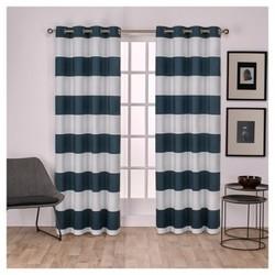 "Surfside Cotton Cabana Stripe Window Curtain Panel Pair Indigo (54""""x84"""") - Exclusive Home"" 1681560"