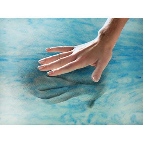 Simmons Beautyrest 3 Gel Memory Foam Mattress Topper Blue Size
