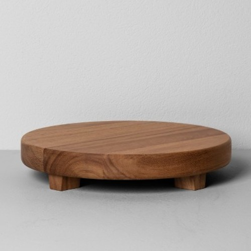Acacia Wood Round Footed Tray Large   Hearth U0026 Hand With Magnolia