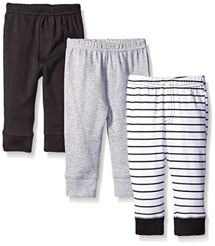 6acd00f68 Luvable Friends Baby Boy Tapered Ankle Pants - 3 Pack - Multi - Size ...