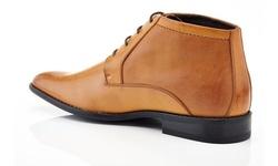 adf915c8aaf Franco Vanucci Men's Lace-Up Ankle Dress Boots - Tan - Size:11.5