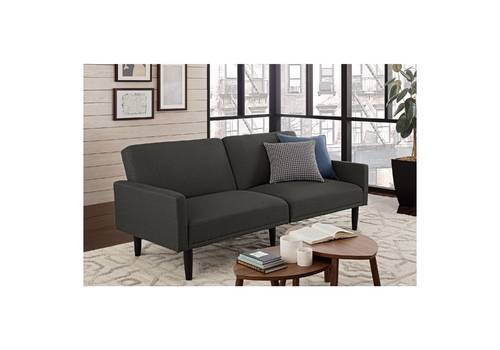 Room Essentials Linen Futon With Arms Gray Check Back