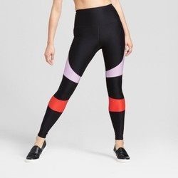Women's Performance High Waist Color Block Leggings - Black - Size:2XL 1698412