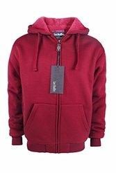 Lee Hanton Men's Solid Sherpa Lined Hoodies XL Red 1669006