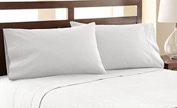 Amrapur Overseas 4-Piece 1200 Thread Count Sheet Set - White - Size: King