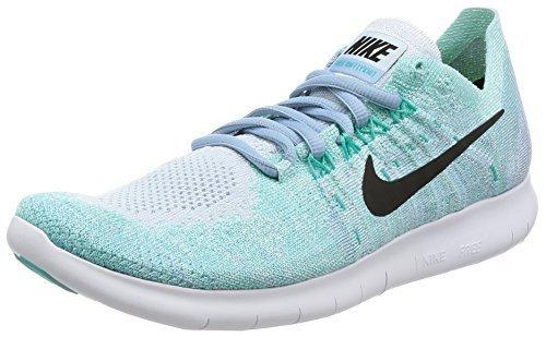 best sneakers c3884 e609f Nike Women s Free RN Flyknit 2017 Running Shoe BLUE TINT BLACK-CIRRUS BLUE-  ...