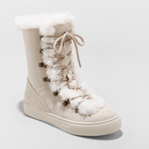 Women's Tira Faux Fur Lace Up Fashion Winter Boots